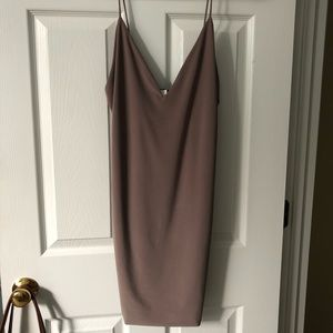 Bodycon dark tan dress
